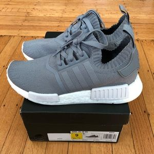 Shoes - Adidas NMD Primeknit - France Grey - Women's 9